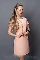 Платье молодежное из итальянской ткани розовый кварц
