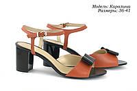 Босоножки с цветным каблуком, фото 1