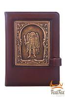 """Чоловічий щоденник """"Архангел Михаїл"""" із натуральної шкіри"""