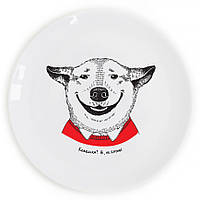 "Сувенирная тарелка ""Собака-посмішака"""