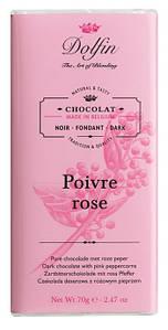 Шоколад бельгийский черный c розовым перцем Dolfin,70 г
