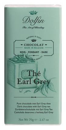 Шоколад бельгийский черный c чаем эрл грей Dolfin,70 г, фото 2