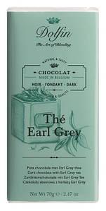 Шоколад бельгийский черный c чаем эрл грей Dolfin,70 г