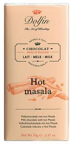 Шоколад бельгийский молочный cо специями Dolfin,70 г