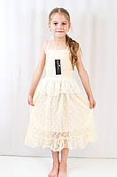 Детский нарядный летний кружевной сарафан