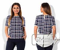 Красивая женская блуза большого размера в разных принтах и расцветках k-1515549