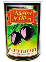 """Маслины """"Маэстро дэ Олива""""  425г б/к супер гигант"""
