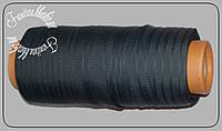 Тесьма брючная тонкая 250м 0,4мм.темно-серая