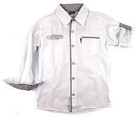 Рубашка хлопковая с длинным рукавом для мальчика 122 р., фото 1