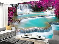 """Фотообои """"Необыкновенный водопад"""", Фактурная текстура (холст, иней, декоративная штукатурка)"""