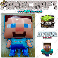 "Воздушный шар Steve из Minecraft - ""Steve Balloon"" - 50 х 32 см."