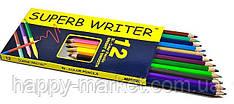 """Кольорові олівці Marco """"SUPERB WRITER"""", 12 кольорів 4100-12CB"""