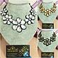 """Ожерелье """"Джули"""" нарядное с кристаллами, форма цветов., фото 2"""