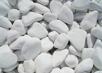 Галька белая мраморная полированно-шлифованная
