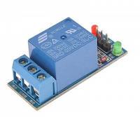 Arduino релейний модуль 1 канал 5В, фото 1