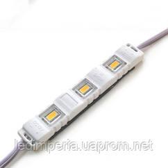 Светодиодный модуль BRT M2 5630-3 led WW 1.5W 3000K 12В IP65