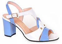 Босоніжки жіночі біло-блакитні ТМ Lider