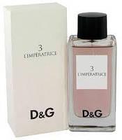 Туалетная вода женская D&G  L`Imperatrice 3 100 ml(дольче габбана)