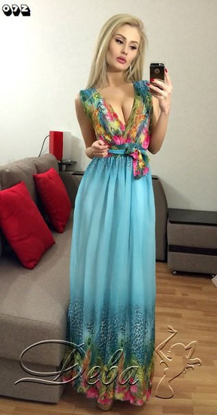 Платье из ткани шифон