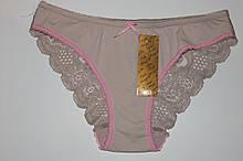 Трусы женские гладкие Аnnajolly арт 8099  черный-М,L капучино с розовым-S,L