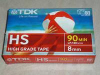 Видеокассета TDK 90HS 8 mm