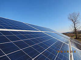 Готовое поле солнечных модулей