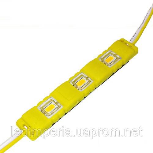 Светодиодный модуль BRT M2 5630-3 led Y 1.5W 12В IP65