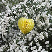 """Подвеска-соты """"Сердце"""", желтая, 15 см"""
