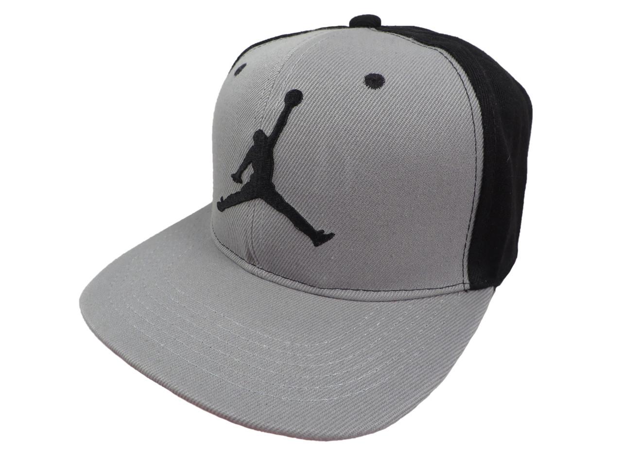 Серая с черным кепка Jordan Air (реплика)