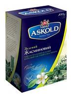 Чай зеленый листовой Askold с жасмином 100 г