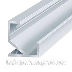 Профиль алюминиевый LED DX угловой ЛПУ-17 17х17 анодированный (палка 2м), м