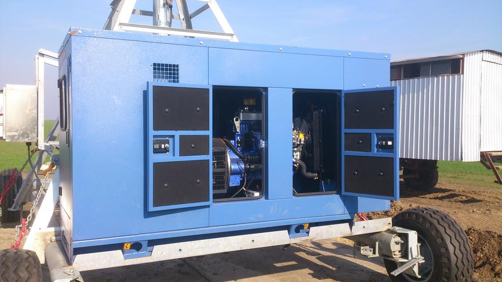 Дизельный генератор 22 кВа для дождевальной установки