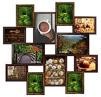 Мультирамка «Путешествие» МЕГА Золотой Шоколад (12 фото) ДЕРЕВО
