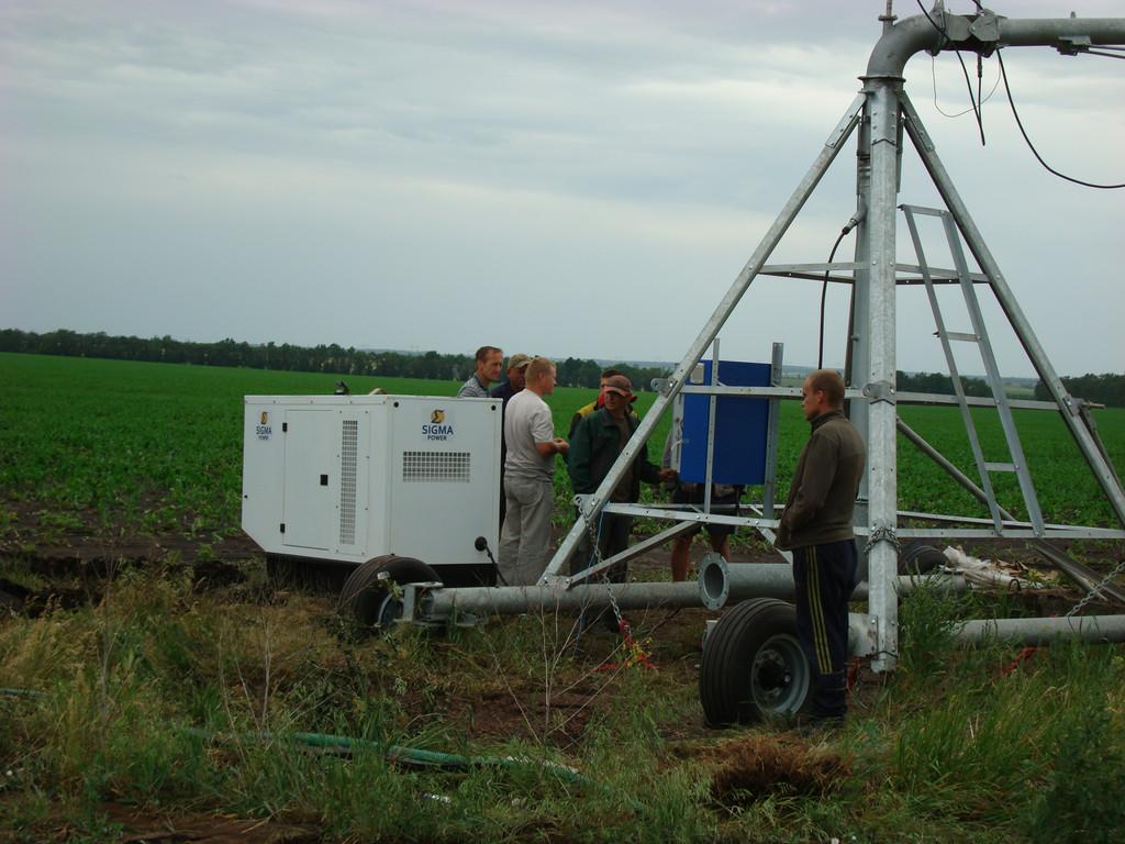 Дизельный генератор 16 кВа для дождевальной установки