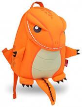 Детский рюкзак, динозаврик Nohoo NH029-1 оранжевый 4 л