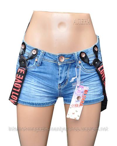 Шорты женские джинсовые с подтяжками