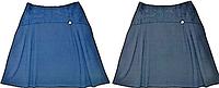 Трикотажная школьная юбка ( синяя ) р-ры 152 152
