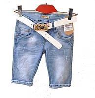 Бриджи женские джинсовые + ремень