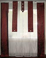 Комплект панельных шторок бордо