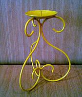 Подсвечник металлический 3S желтый