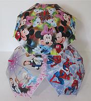 """Детский зонт Disney 5-9 лет """"Frozen"""" (Холодное сердце), Микки маус, Человек паук, Тачки, Принцессы"""