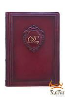 """Шкіряний щоденник зі змінним блоком """"Вензель"""""""