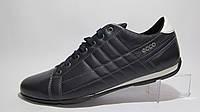 Туфли мужские  ECCO кожаные, синие (еко)р.44,45