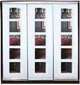 ШКАФЫ-КУПЕ с фасадами из МАТОВЫХ зеркал и зеркал с РИСУНКОМ пескоструй на 3 двери 58/58/58 5квадратов