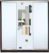 ШКАФЫ-КУПЕ с фасадами из МАТОВЫХ зеркал и зеркал с РИСУНКОМ пескоструй на 3 двери 7/51/7 м/зеркало+мз/квадраты