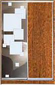 ШКАФЫ-КУПЕ с фасадами из ДСП, МАТОВЫХ зеркал и зеркал с РИСУНКОМ пескоструй на 1 двери 53/40 з/квадраты + оре
