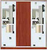 ШКАФЫ-КУПЕ с фасадами из ДСП, МАТОВЫХ зеркал и зеркал с РИСУНКОМ пескоструй на 2 двери 51/3/51 м/квадраты+ябл