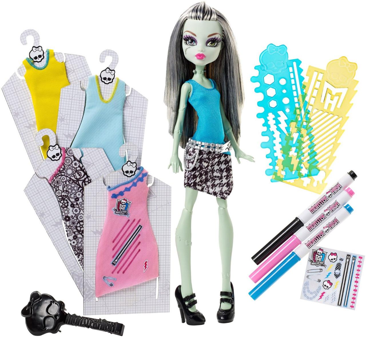 Monster High набор Фрэнки Штейн Дизайнерский Бутик Frankie Stein Doll & Fashions