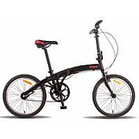 Велосипед 20'' PRIDE MINI 3sp черно-красный матовый 2016