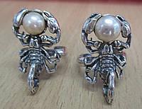 Кольцо СКОРПИОН (золотистый или кремовый жемчуг ) от Студии LadyStyle.Biz, фото 1